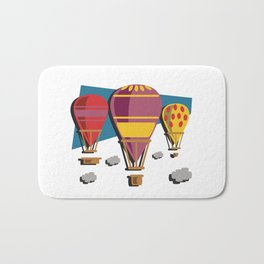 Balloon flight flying in the sky with clouds shirt Bath Mat