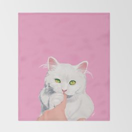 Naughty Cat Throw Blanket