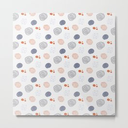 colorful pattern with circles Metal Print