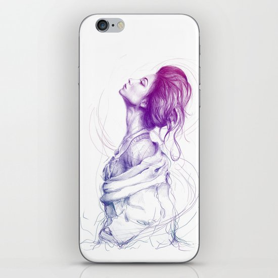 Beautiful Woman Lady Portrait Fashion Art iPhone & iPod Skin