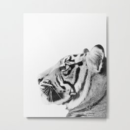 Tiger, Animal, Minimal, Trendy decor, Nursery, Interior, Wall art, Photo Metal Print