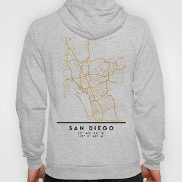 SAN DIEGO CALIFORNIA CITY STREET MAP ART Hoody