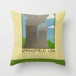 Silver Screen Tourism: SPRINGFIELD, USA / THE SIMPSONS Throw Pillow