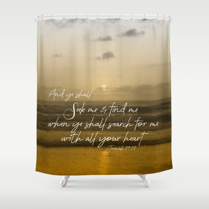 Ocean Sunrise: Seek Him with your whole Heart Scripture Shower ...
