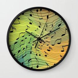 Music notes II Wall Clock