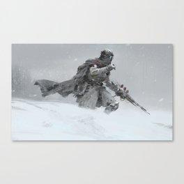 white soldier Canvas Print