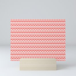 Coral Chevron Mini Art Print