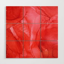 All Red Wood Wall Art