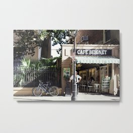 New Orleans Cafe Beignet Metal Print
