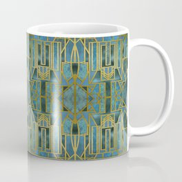 Elegant Retro Art Deco Pattern With Marble Elements Coffee Mug