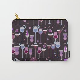 Retro Vintage Cocktail Pattern 1 Carry-All Pouch