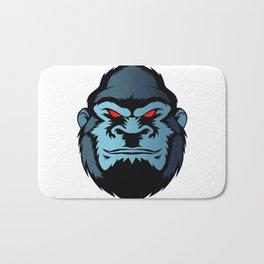 blue gorilla head Bath Mat