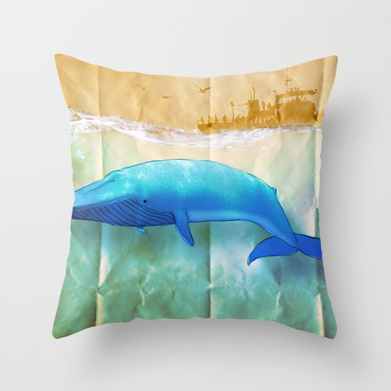 the beauty beneath _ humpback whale Throw Pillow