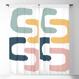 Pastel Chains Blackout Curtain