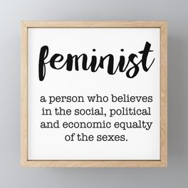 feminist Framed Mini Art Print