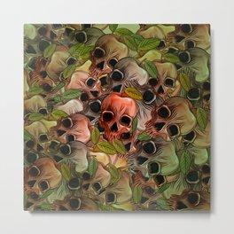 Apple Skull Metal Print
