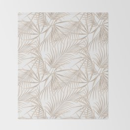 Palm leaves 4. Throw Blanket