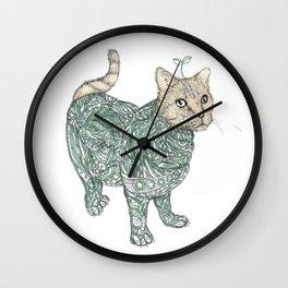 cat & grass Wall Clock