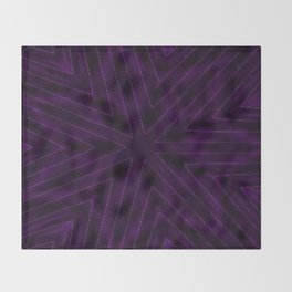 Eggplant Purple Throw Blanket
