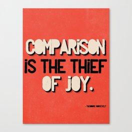 The Thief of Joy Canvas Print