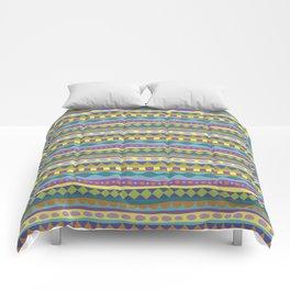 Stripey-Jardin Colors Comforters