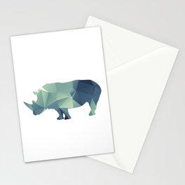 Rihno - blue geomatric Stationery Cards