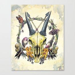 PentaSkull (Variant)  Canvas Print