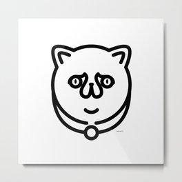 Sadden Cat Metal Print
