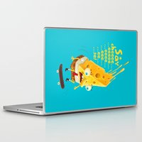cheese Laptop & iPad Skins featuring Say cheese by Lime