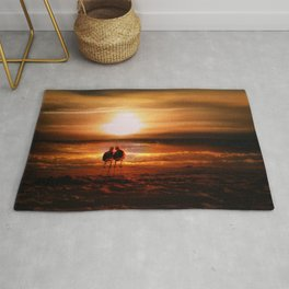 Seagulls - Lovebirds at Sunset Rug