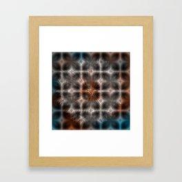 Dandelion Plasma Grid Framed Art Print