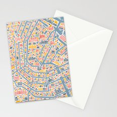 Amsterdam City Map Poster Stationery Cards
