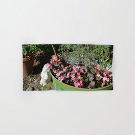 Sun kissed Garden Angel and Begonias Hand & Bath Towel