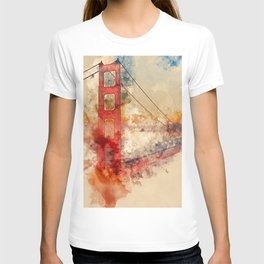 Golden Gate Bridge - Watercolor T-shirt