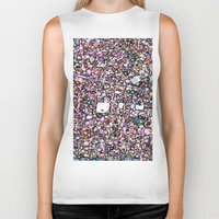 maps Biker Tanks featuring Funky Maps, SAN FRANCISCO by MehrFarbeimLeben