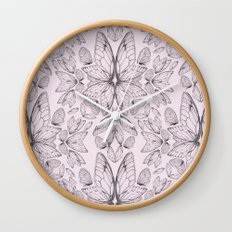 Rose Quartz Insect Wings Wall Clock