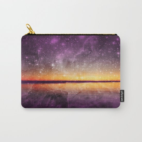 Violet Stars And Sunset Lake Carry-All Pouch