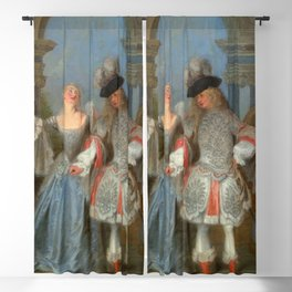 """Antoine Watteau """"The French Comedians"""" Blackout Curtain"""