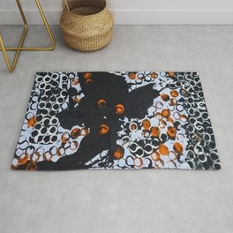 Halloween Theme, abstract art, titled, Dwuble. Rug