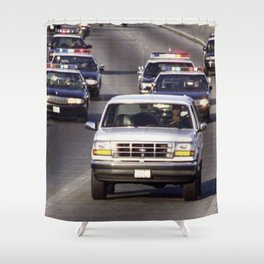 OJ Simpson Car Chase Shower Curtain