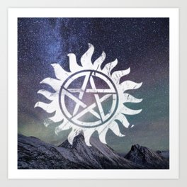supernatural anti possession symbol Art Print