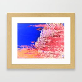 Into the Mist Pantone Color of the Year 2016 Abstract Framed Art Print