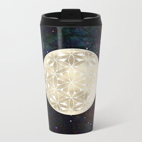 The Flower of Life Moon 2 Metal Travel Mug
