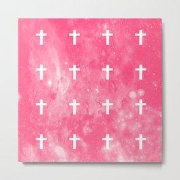 Cross (edit.) pink ver Metal Print