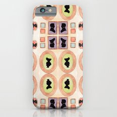 Victorian Silhouette Pattern Slim Case iPhone 6s