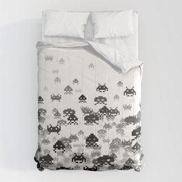 Invaded III B&W Comforters