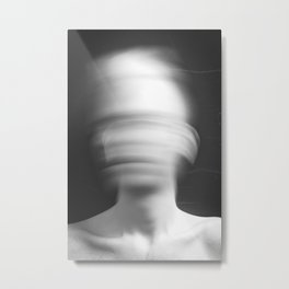 Blur in Black and White Metal Print