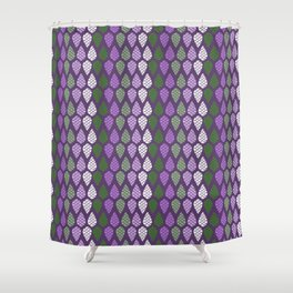 Mythical Dragon Scale Purple Green White  Shower Curtain