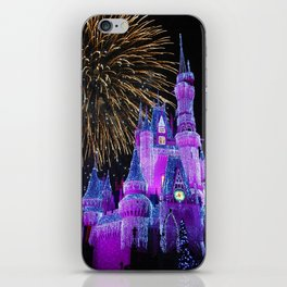 Disney Magic Kingdom Fireworks at Christmas - Cinderella Castle iPhone Skin