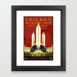 1933 Chicago World's Fair Framed Art Print